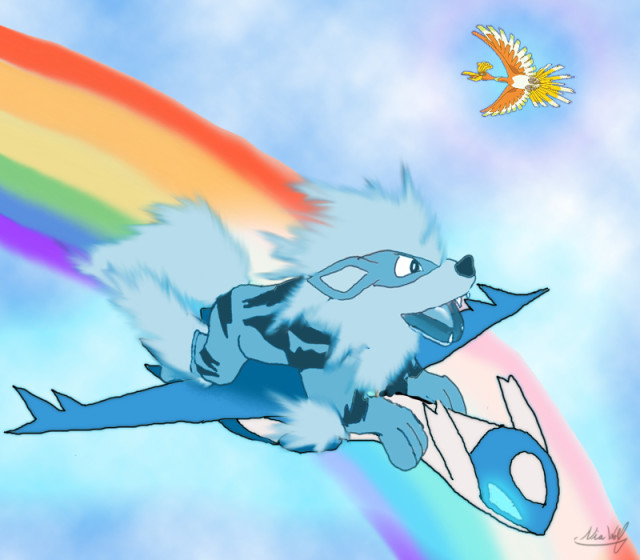Arcanine on the Rainbow